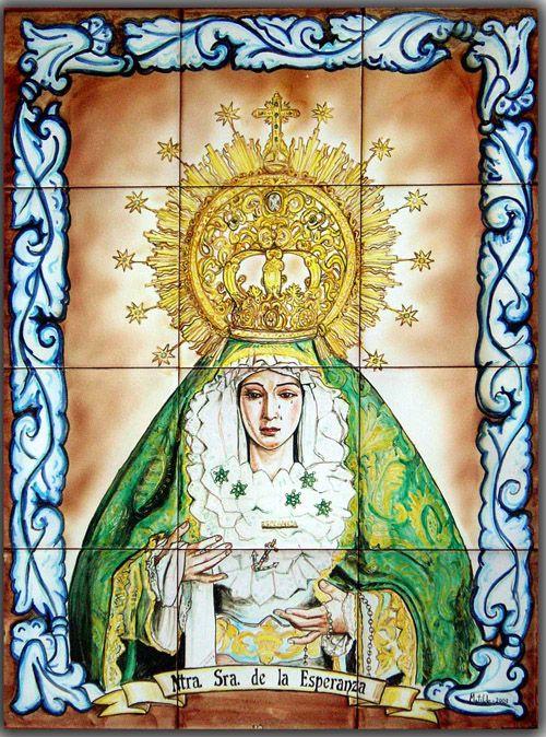 Retablo cerámico. Virgen de la Esperanza.