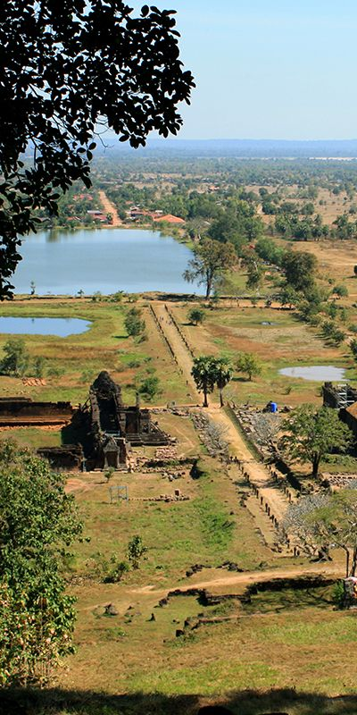 Champasak, in Laos, is a gorgeous destination. It's a pre-Angkorian site, that looks a lot like Angkor in Cambodia (without any tourists!). The most famous monument is the Wat Phou Temple. #UNESCO #travel #Asia