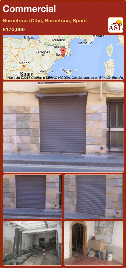 Commercial in Barcelona (City), Barcelona, Spain ►€170,000 #PropertyForSaleInSpain