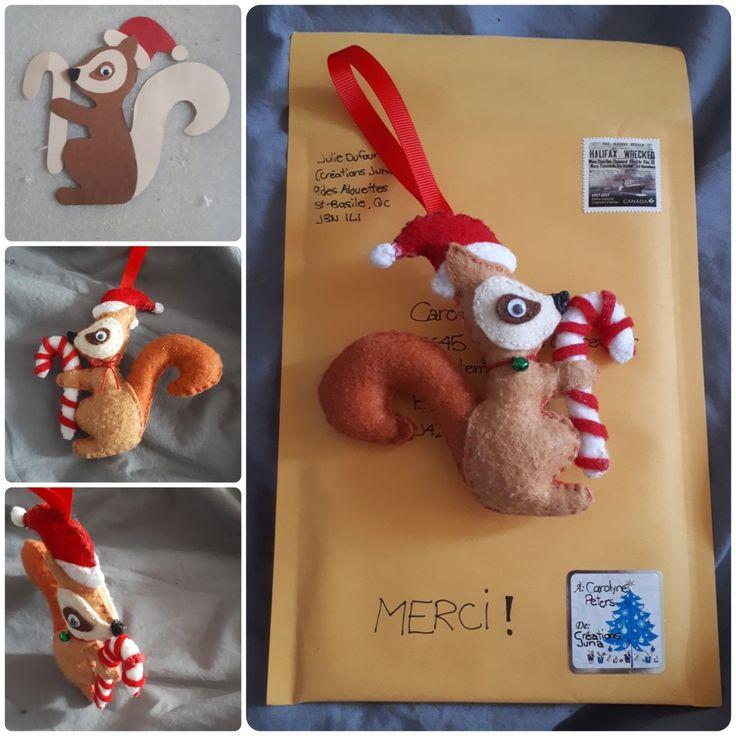 Ornement de Noël (écureuil)
