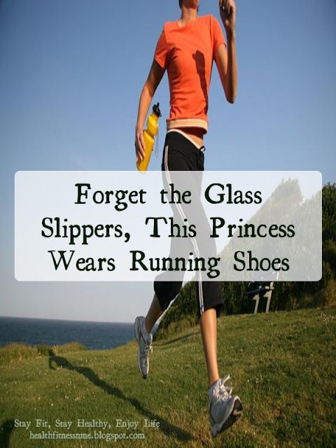 Forget the glass slippers this princess wears running ...