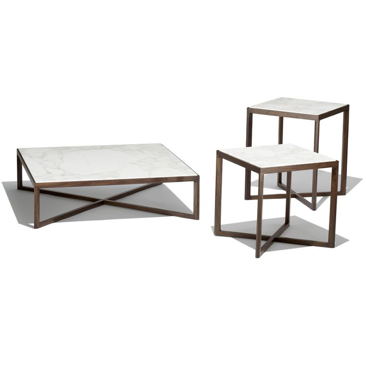 Knoll Krusin Tables With Marble Tops