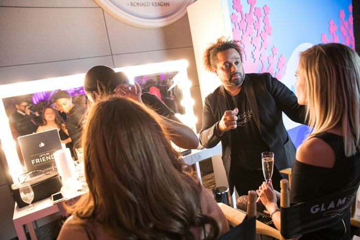 <p> New York-based Glamsquad, an on-demand hair and makeup service, provided complimentary makeup services for guests to promote its new...