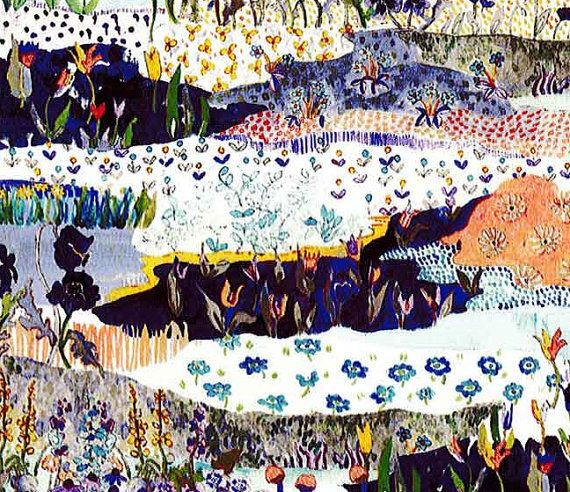 Liberty tana lawn     Posy Landscape     by KateJapanesefabric