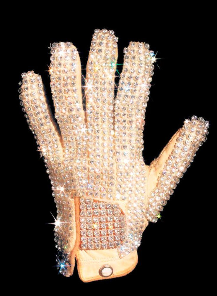 This is the glove that Michael Jackson wore at the 1983 Motown anniversary performance during that famous MoonWalk.