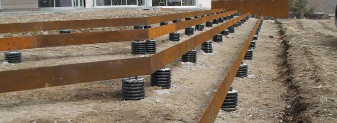 Patio Retaining Wall Construction Details : Cor ten lawn steps construction detail limites