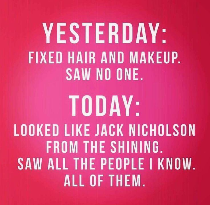 Makeup vs. No Makeup. Ha!