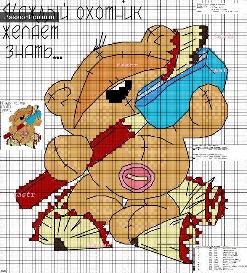 МИШКИ... ЧАСТЬ 6 / Схемы вышивки крестиком / PassionForum - мастер-классы по рукоделию