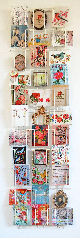 Je veux un rack comme ça chez nous pour y glisser photos et images adorées!