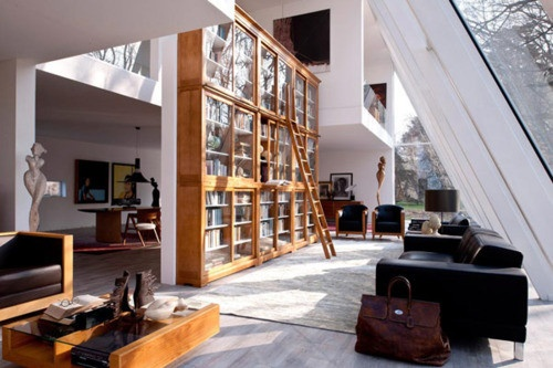 ...Dreams, Open Spaces, Libraries Furniture, Living Room, Modern Loft, Bookcas, Loft Spaces, House, Room Dividers