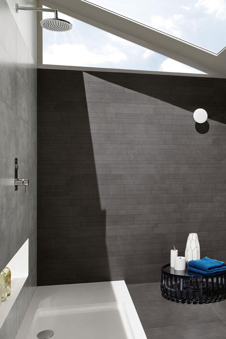 #Dunkle Fliesen von #Love #Tiles – Muretto im #Bad!