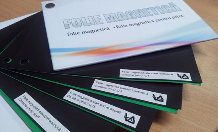Folie magnetica 0.40 mm adeziva in coala A4 (grosime totala 0.50 mm)