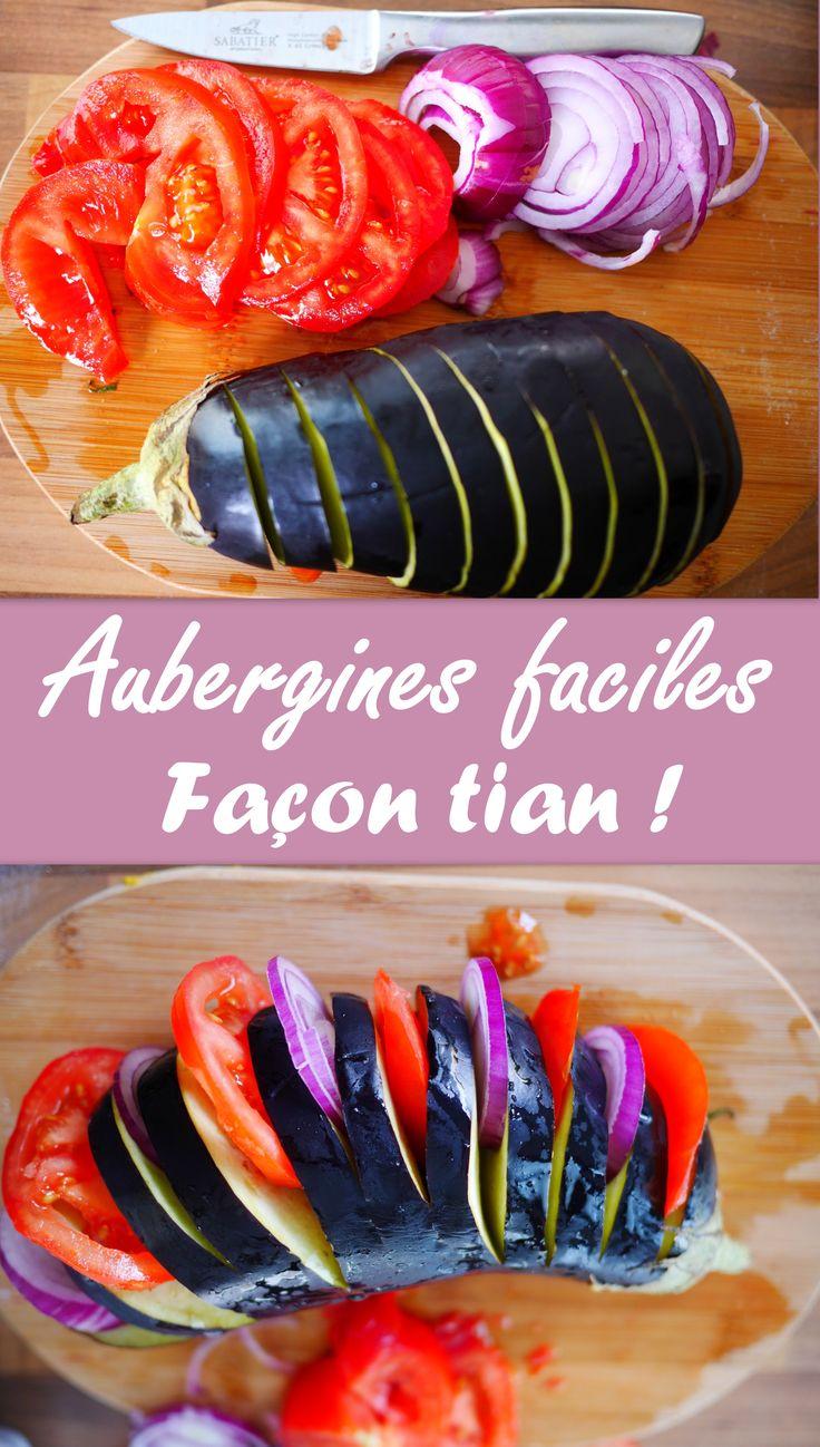 Simple, rapide, efficace : l'aubergine façon tian de légumes !! Un régal !