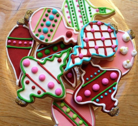 Decorated Christmas Sugar Cookies by AnnPotterBaking on Etsy, $30.00