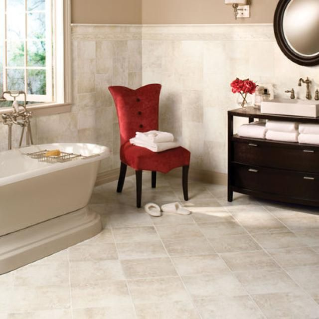 11 Pictures Guaranteed To Jumpstart Your Bathroom Remodel: Bathroom Remodeling Pictures:  Wall and Floor Tile of Differing Sizes