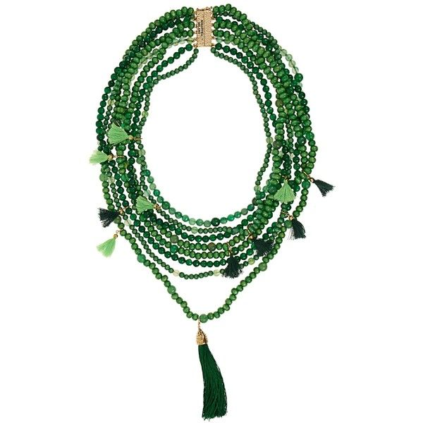 Rosantica By Michela Panero Etna multi-layered wood and quartz... ($911) ❤ liked on Polyvore featuring jewelry, necklaces, green, green necklace, green pendant, layered pendant necklace, magnetic necklace and green pendant necklace