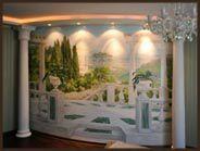 Роспись стен в детской комнате. Панорама.