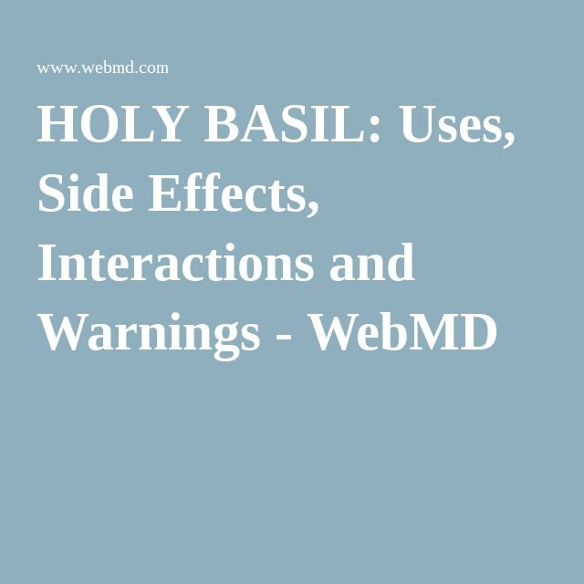 Holy basil benefits and side effects