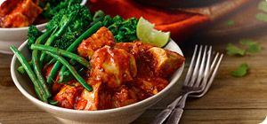 Spice up your weight loss with this rich and tasty chicken dish. We've teamed it with spicy broccoli and green beans to make this a perfect Extra Easy SP meal.