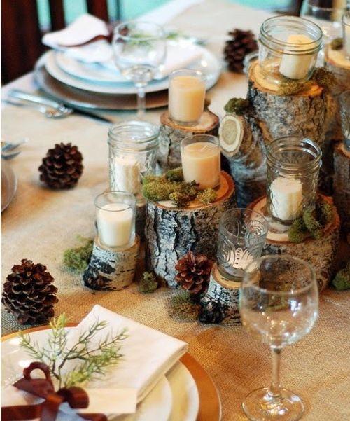 tronchi, pigne, candele e aghi di pino..il mio preferito!