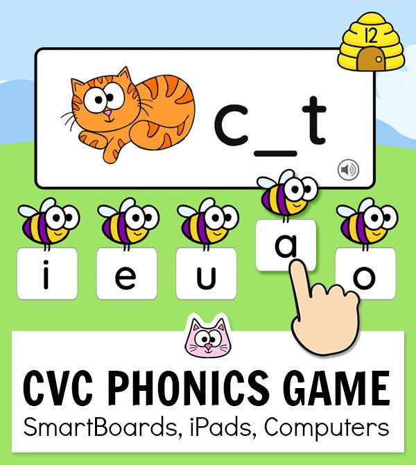 Practice Beginning Sounds With Cvc Words By Playing This Fun And Free Team Building Race Game In Y Phonics Games Kindergarten Phonics Games Smart Board Lessons