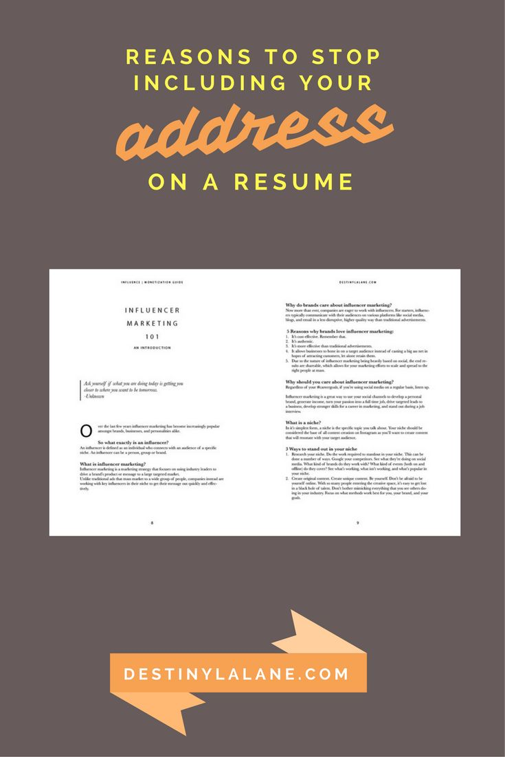 3 Reasons to stop including your address on resumes in 2018 and going forward   #careertips #careeradvice #resumes   destinylalane.com
