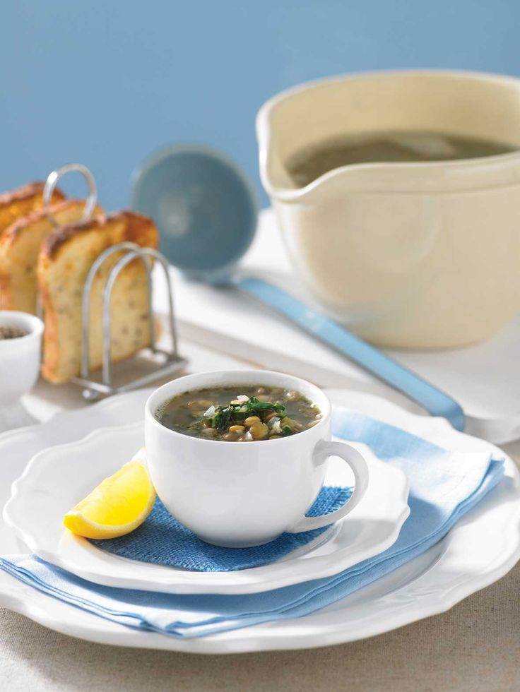 Greek lentil and lemon soup: Recipe courtesy of Healthy Food Guide April 2009 edition