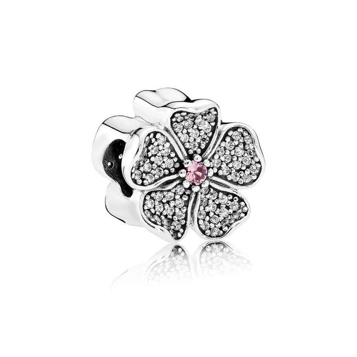 Sparkling Apple Blossom Charm - Pandora UK | PANDORA eSTORE