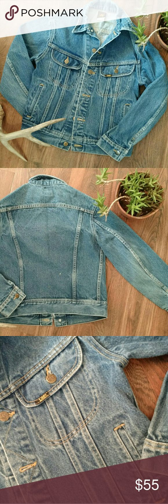 Vintage denim jacket This little jacket is fantastic.  Perfect heavyweight denim.  Gorgeous wash.  Quality lifelong classic!  Boys size 16.  Fits me great, I'm a xs or small. Lee Jackets & Coats Jean Jackets