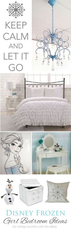 Adorable Disney Frozen Girl's Bedroom Decorating Ideas that will grow with your daughter as she grows.