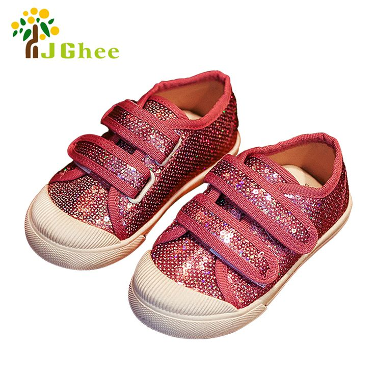 J Ghee 2017 Autumn Kids Shoes Children Casual Sneakers For Boys Girls Baby Toddler Boy Girl Shiny Bling Bling Sequins Size 21-30 #Affiliate