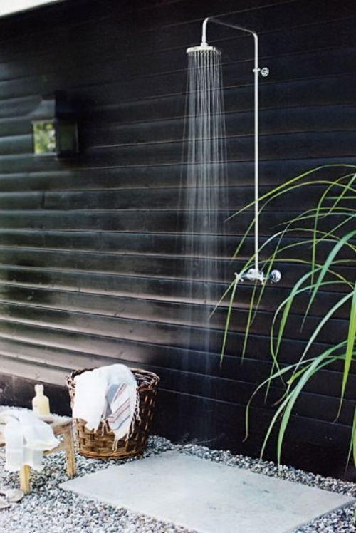 outside shower FTW
