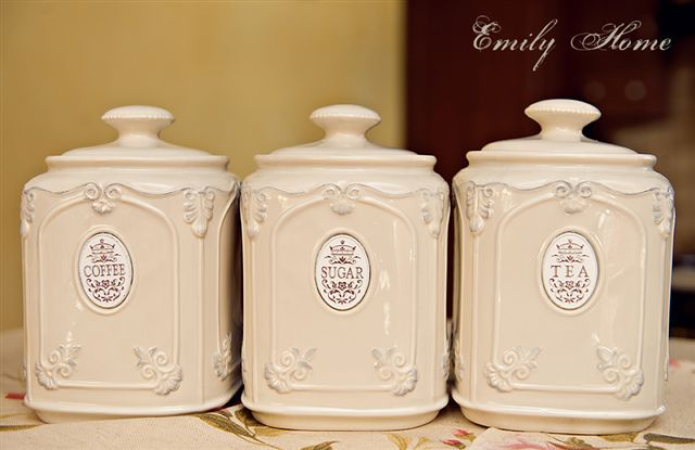 Pojemnik na kawę ecru-stylowy ceramiczny - Emilyhome.pl