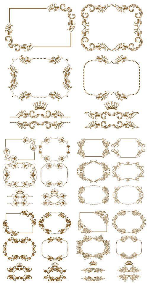 Декоративные рамки в векторе