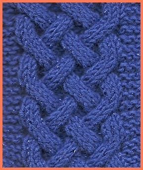 Celtic plait cable knitting pattern.