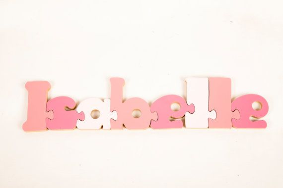 Personalised Gifts for Kids - 8 Letter Personalised Name Jigsaw