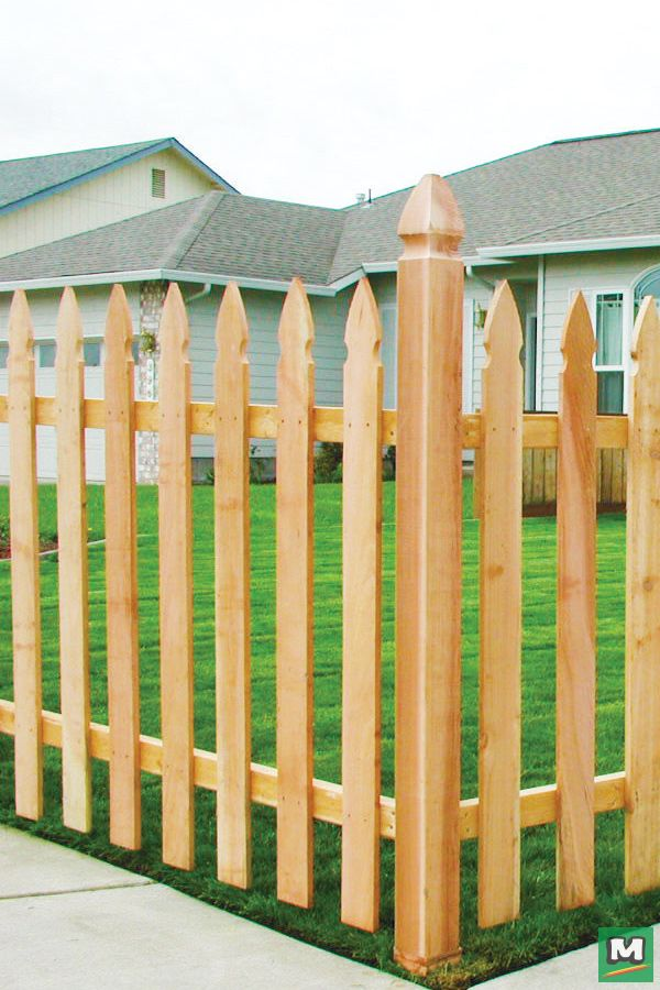 how to cut gothic fence pickets