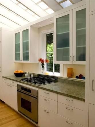 Image result for stove with window above it