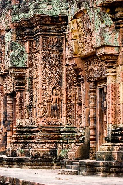 Banteay Srei Temple of Angkor Wat Cambodia ok this is the 3rd Angkor Wat photo I've pinned. there are literally hundreds of photos each more amazing than the last. wow.