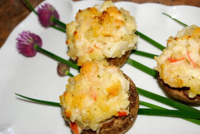 Mennonite Girls Can Cook: Seafood Stuffed Mushroom Caps
