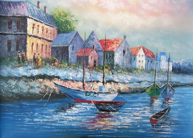 21 best images about painting of fishing boats on for Fishing boat painting