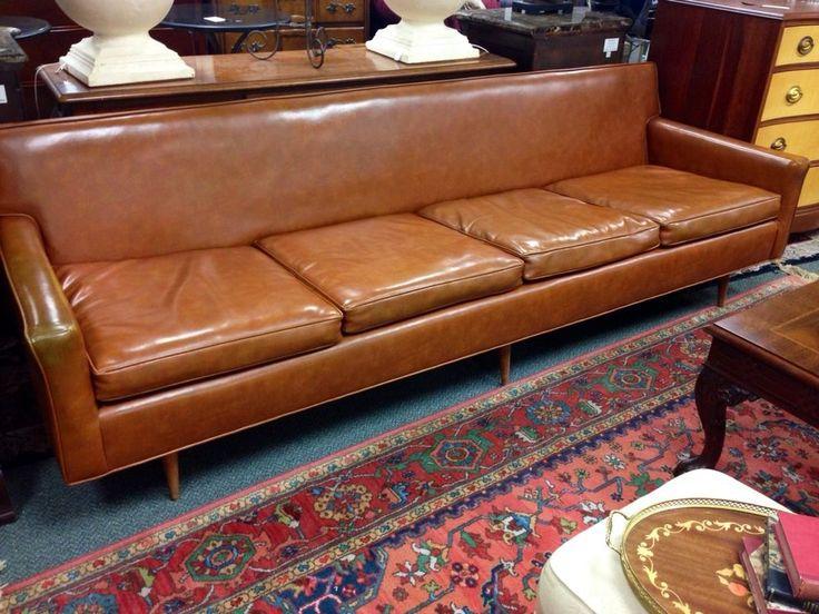 Vintage Florence Knoll Lounge Sofa Charles Pfister Original Naugahyde  Upholstery