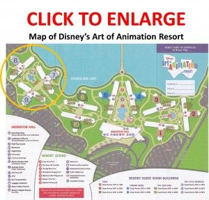 Disney World Art of Animation Resort - Map, review & photos of Little Mermaid standard rooms