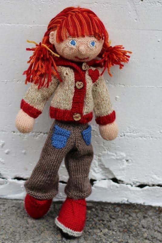 Maria strikker: Vilhelmina Arne & Carlos doll