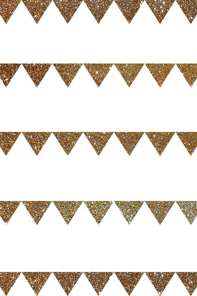 Gold glitter white bunting triangles pattern iphone