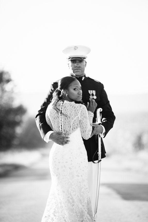Meet the Myricks - Bridal Bliss: Carlin and Madison's Modern Military Wedding Photos Will Steal Your Heart