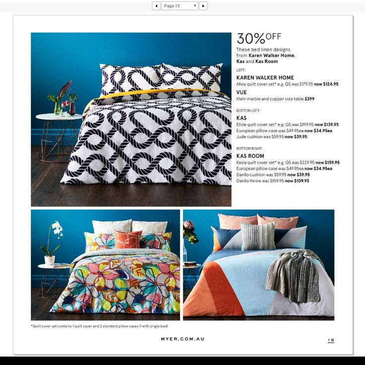 Kas and Kas Room new bedlinen designs feature on the new @Myer catalogue #loveKas