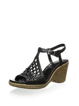 59% OFF Rockport Women's Delyssa Quarter Strap Woven Sandal (Black)