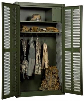 locker for Army themed bedroom
