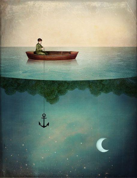 """""""Entering Dreamland"""" Bild von Catrin Welz-Stein jetzt als Poster, Kunstdruck oder Grußkarte kaufen.."""